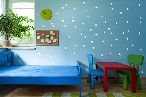 Easma Star Wall Decals  3 Size White Stars Decals Kids Nurse
