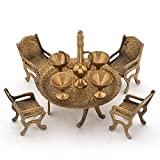 Ethnic Arts Unique Design Dining Table Chair Maharaja Set -196