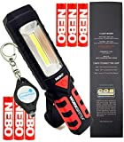 BUNDLE: Nebo Workbrite 2 Magnetic High Power 200 LED Work Light 6304 w/Extra 3x AAA Nebo Batteries and Lumintrail Keychain Light