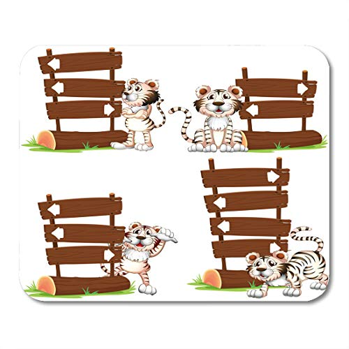 Nakamela Mouse Pads Clip Animal White Tiger ()