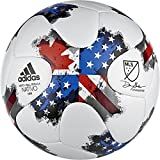adidas Performance MLS Glider Mini Soccer Ball, White/Red/Blue, Size 1
