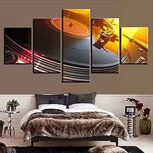 QThxqa Lienzo cuadros modulares Sala decoración marco 5 unidades ...