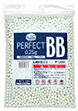 KSC/KWA Perfect Precision Airsoft Gun BB's 0.25G 3000 Count Bag, No Irregular Sizes, Seamless Competition Level Rounds