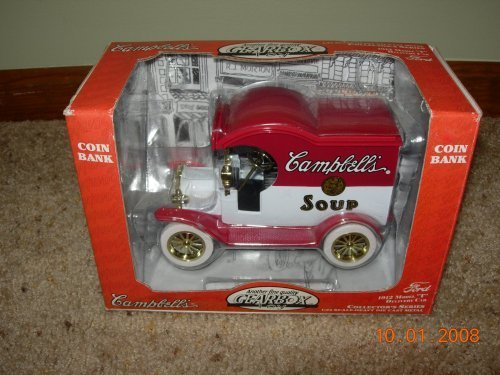 - 1912 Ford Model T Campbell's Soup Die Cast Delivery Car/Bank