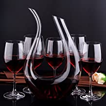 1500 ml. Luxurious Crystal Glass U-shaped Horn Wine Decanter Wine Pourer Wine Container