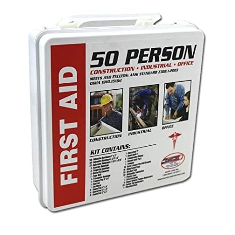 50 Person First Aid Kit Osha Ansi Home Office Warehouse Construction Safety