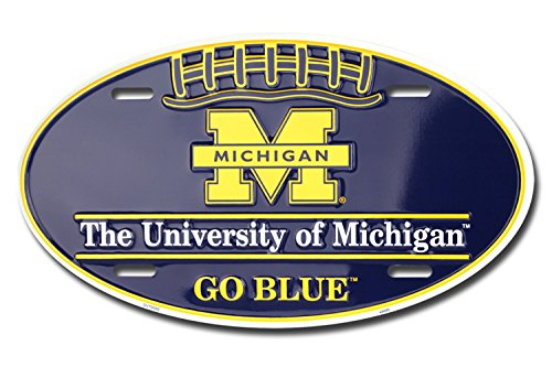 Michigan (Wolverines) Football Oval License Plate