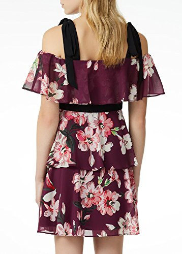 A Kleid Fantasia Damen Jo Mehrfarbig Fiori Liu Rüschen Jeans 0Bw17xWqa