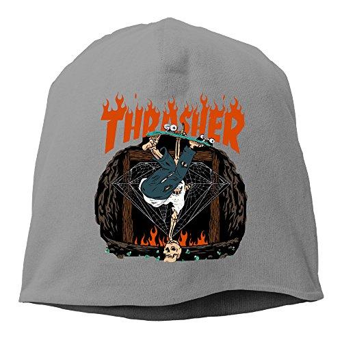 Slouch Beanie Thrasher Hellride Funny Skull Skating -