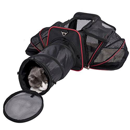 Expandable Pet Carrier with Tunnel by Pet Peppy - Patent Pending …