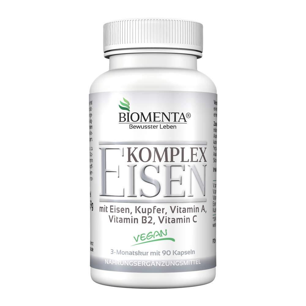 BIOMENTA EISEN KOMPLEX | mit Eisen hochdosiert, Kupfer, Vitamin A ...