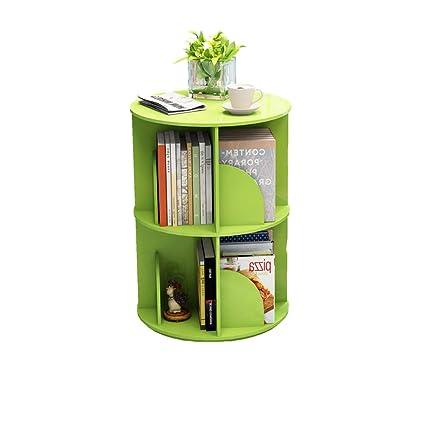 Amazon com: Creative Vertical 360° Rotating Bookshelf, Simple