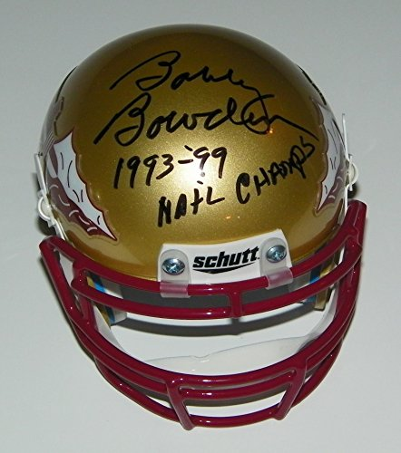 Bobby Bowden Signed Autographed Auto FSU Florida State Seminoles Mini Helmet w/1993 - 99 National Champs - - Helmets Autographed Ncaa Mini