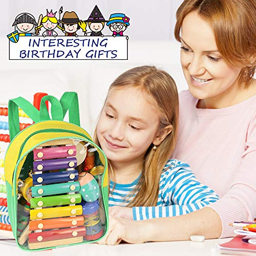 Toddler Musical Instruments- LEKETI 15 Types 22pcs Wooden Toddler Musical Percussion Instruments Toy Set for Kids Preschool Educational, Early Learning Musical Toys Set for Boys and Girls with Storage by LEKETI (Image #1)