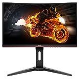 AOC Monitor de Juegos Curvo sin Marco, FHD 1920 x 1080, Panel VA, 1 ms MPRT, 144 Hz, FreeSync, DisplayPort/HDMI/VGA, VESA, Curvado Full HD, Negro, 24 Pulgadas