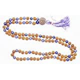 Yoga Meditation Mala Beads Rudraksha Amethyst Stone Beads Necklace