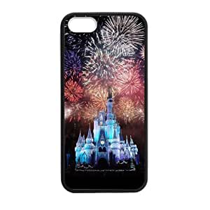 DIY Design Cute Disney Castle-Protective TPU Cover Case for iPhone 5/5S (Laser Technology)case Perfect as Christmas gift01
