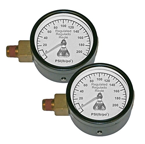 Porter Cable C3001 Compressor (2 Pack) Replacement 2 inch 200 PSI Gauge # Z-28274-2pk