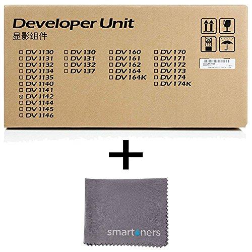 Kyocera DV-1142 Developer Unit (100,000 Yield) with Micro Smartoners Cloth