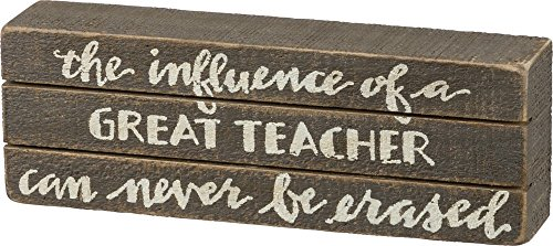 Primitives by Kathy 35220 Gray Wood Slat Hand Lettered Box Sign, 8.75
