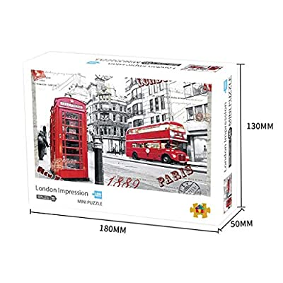 Wooden Puzzles for Adults 1000 Piece Puzzle City Landscape Jigsaw Assembling Game Toys Children's Educational: Toys & Games