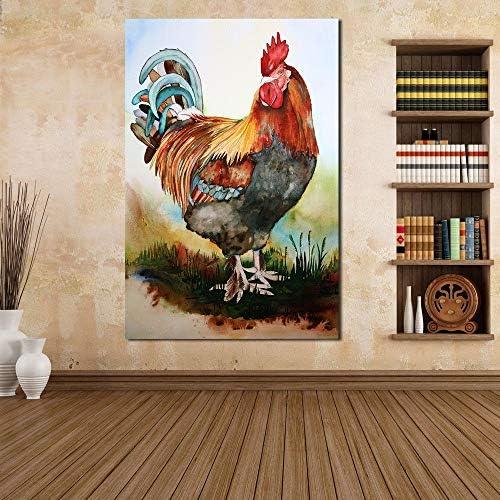 リビングルームのための家の装飾の油絵壁の写真キャンバス絵画50x70cm上の巨根の絵画フレームなし