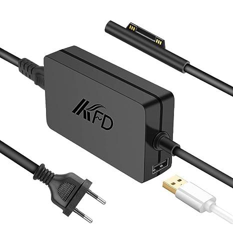KFD 36W Adaptador de Corriente Cargador portátil 12V 2.58A para Microsoft Surface Pro 3 Pro ...