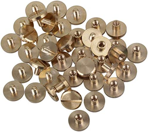 Flat Head Button Belt Strap Chicago Screw Back Rivet Concho Stud 11mm 38 Bag Hardware Screwback Shoe Blacelet Gold Silver Gunmetal Bronze