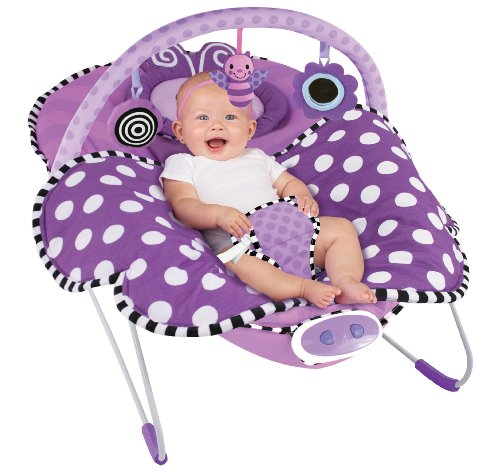Sassy Cuddle Bug Bouncer, Violet Butterfly by Hamacher