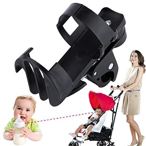 Titular de la botella de plástico Negro Cochecito para bebé Estante de la botella por Holder Taza de bebé Coche de carretilla de bicicletas de liberación ...
