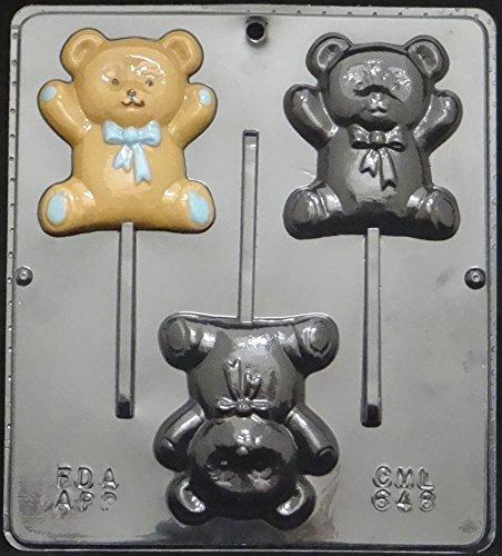 - Teddy Bear Lollipop Chocolate Candy Mold Baby Shower 648