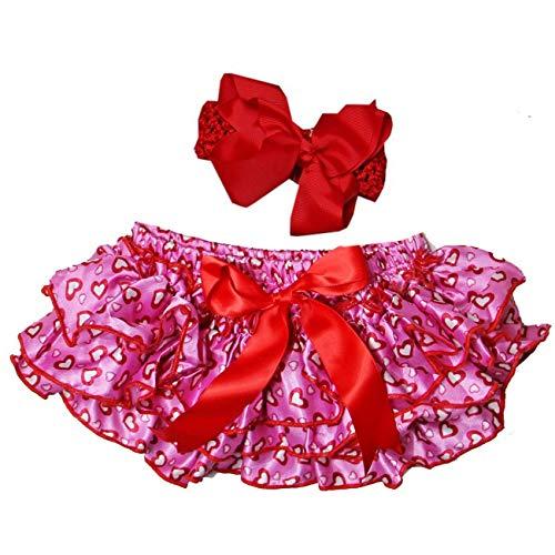 Heart Pink Bloomers - Kirei Sui Baby Hearts Bloomers & Headband Set Hot Pink