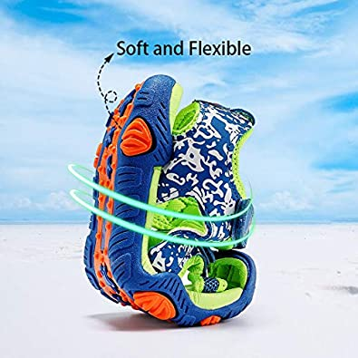 JMFCHI Boys Girls Sports Sandals Summer Kids Closed Toe Outdoor Sandals Athletic Water Shoes Sandals Child Pool Beach Sandals Quick Drying Slip Resistant