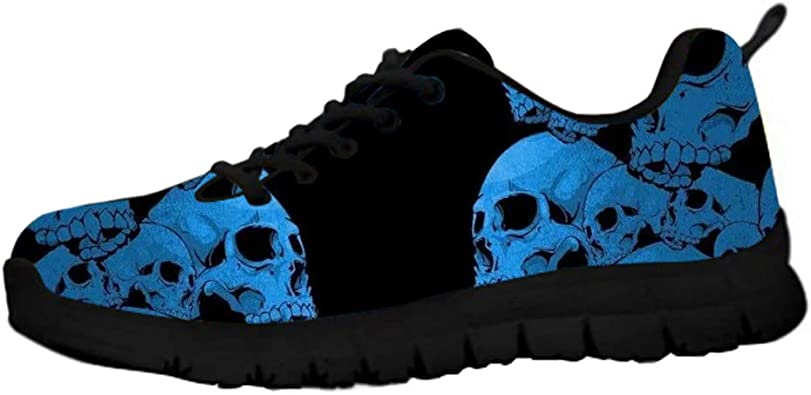 Anchors and Skulls Blue Girl Canvas Casual Shoes Original Tennis Shoes