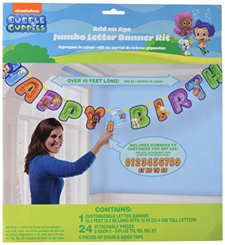 amscan Bubble Guppies Jumbo Letter Banner Kit (1ct) -
