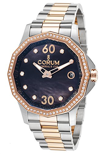 Corum 082-101-29-V200pn10 Women's Admiral's Cup Legend Diamond Auto 18K Rose Gold And Ss Watch