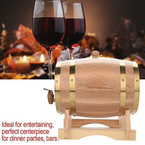 Oak Barrel, 5L Vintage Wood Oak Timber Wine Barrel Dispenser for Whiskey Aging Barrel Bourbon Tequila Brewing Port Kegs (5L) by Yosooo (Image #8)