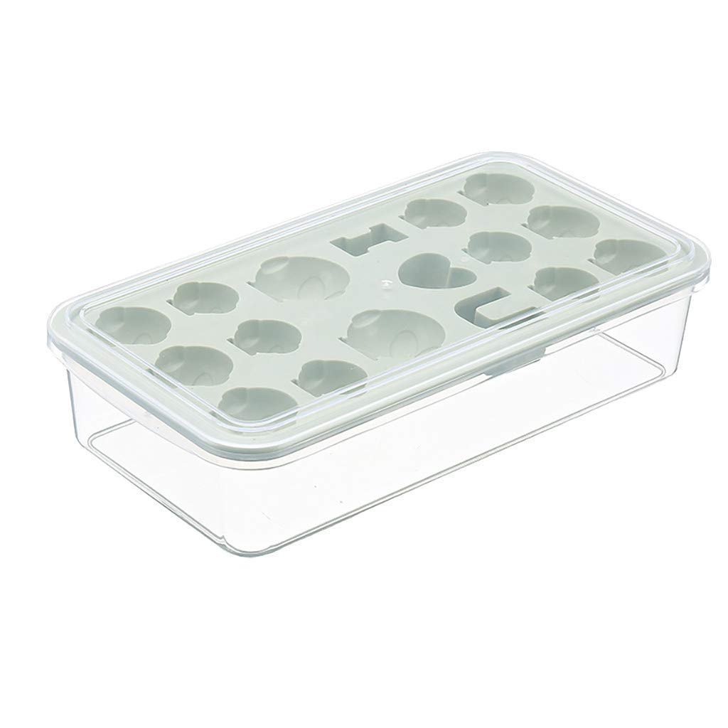 Yevison Grids DIY Small Ice Cube Tray Jelly Chocolate Mold Ice Cream Bar Mould Hot Best for Freezer, Baby Food, Water GN Durable and Useful