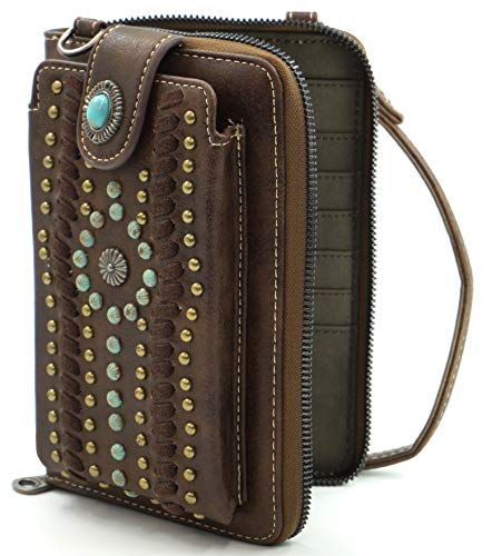 Montana West Crossbody Cell Phone Purse For Women Western Style Phone Bags Travel Size With Strap