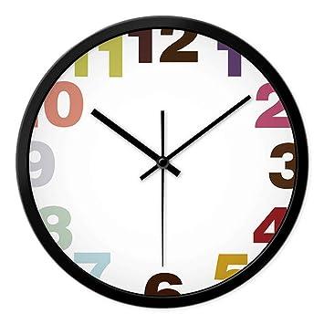 DEED Metal Simple Personalidad Tranquila Reloj de Pared Relojes Personalizados Moda Reloj de Pared Sala de