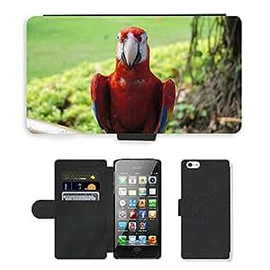 hello-mobile PU LEATHER case coque housse smartphone Flip bag Cover protection // M00136832 Pájaro del loro Ara Animal colorido // Apple iPhone 5 5S 5G
