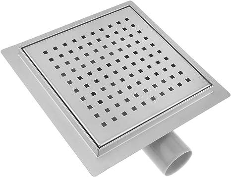 PrimeMatik - Canaleta de desagüe para Ducha Cuadrado 20 cm con Rejilla: Amazon.es: Electrónica