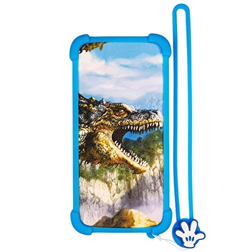 Case for Verykool Spear Jr S5034 Case Silicone Border + PC Hard backplane Stand Cover L
