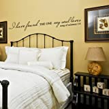 I Have Found The One My Soul Loves (Song Of Solomon 3:4) - Vinyl Lettering Wall Words Quotes Graphics Decals Art Home Decor (Black, Medium)