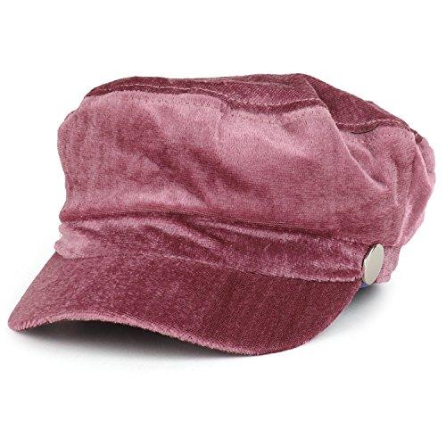 Trendy Apparel Shop Women's Newsboy Velvet Baker Boy Style Cabbie Hat - Mauve by Trendy Apparel Shop