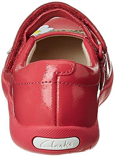 Clarks Mädchen außerschulischen Binnie Jam Inf Leder Schuhe in Coral Patent