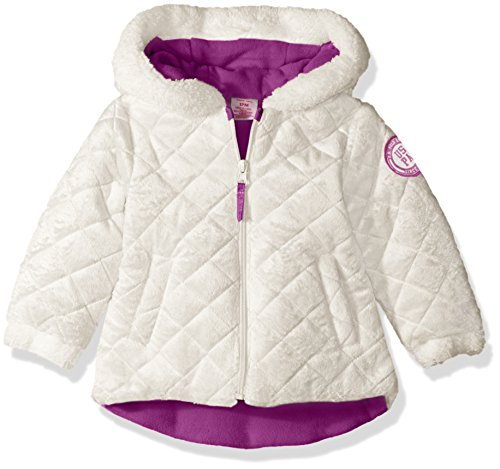 U S Polo Assn Baby Girls Quilted Faux Fur Jacket Winter White