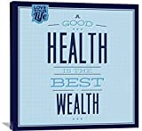 Naxart Studio ''Health Is The Best Wealth 1'' Giclee on Canvas, 36'' x 1.5'' x 36''