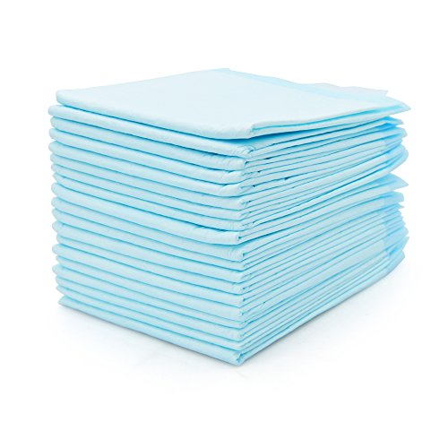 OBloved Baby Changing Pad, 20Pack Disposable Portable Diaper Changing Table & Mat, Leak-Proof Breathable Waterproof Underpads Mattress Play Pad Sheet Protector(Blue)