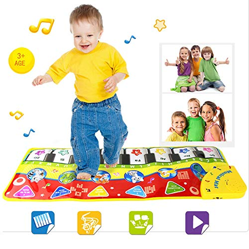 yboard Mat Toy,Kids Dance Floor Play Mat,Toddler Musical Carpet Interactive Games,Educational Gym Blanket Toys Gift for Baby Girls Boys 1 2 3 4 5 6 Years Old,70×27CM (Multicolor) ()